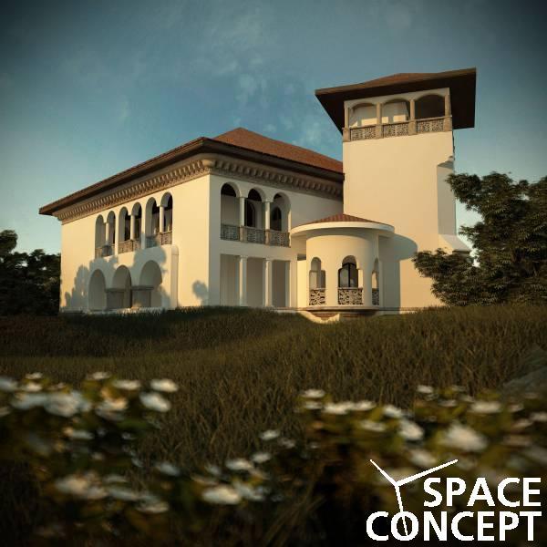 proiect casa arhitectura clasica neoromaneasca space concept