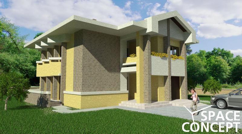 Casa clasica parter si etaj space concept for Proiect casa clasica b 178 m