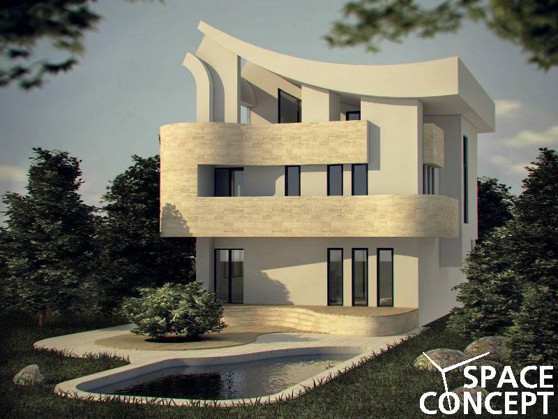 Casa moderna parter etaj terasa space concept for Casa moderna romania