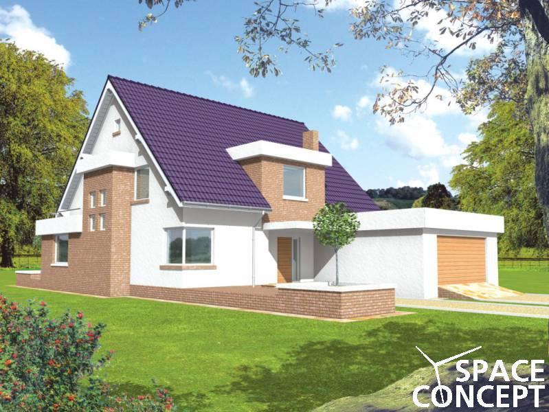 Proiect casa cu garaj penelopa space concept for Proiecte case cu garaj