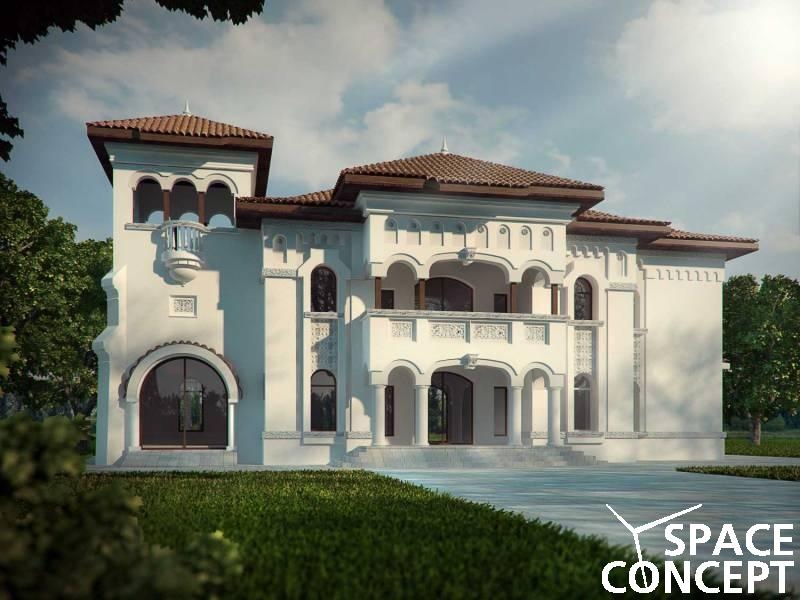 proiect casa clasica neoromaneasca space concept
