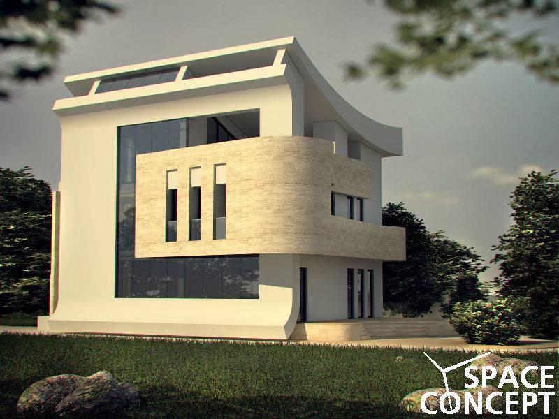 Casa moderna parter etaj terasa space concept for Imagini case moderne