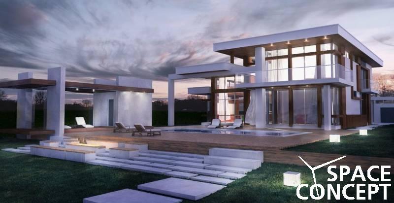 Proiect casa moderna space concept for Casa moderna romania