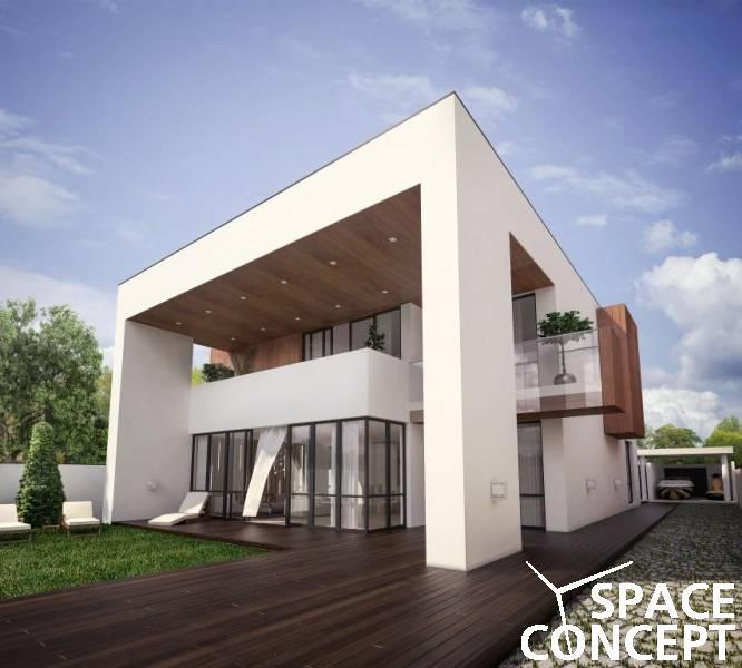 Proiect casa moderna lac | Space Concept