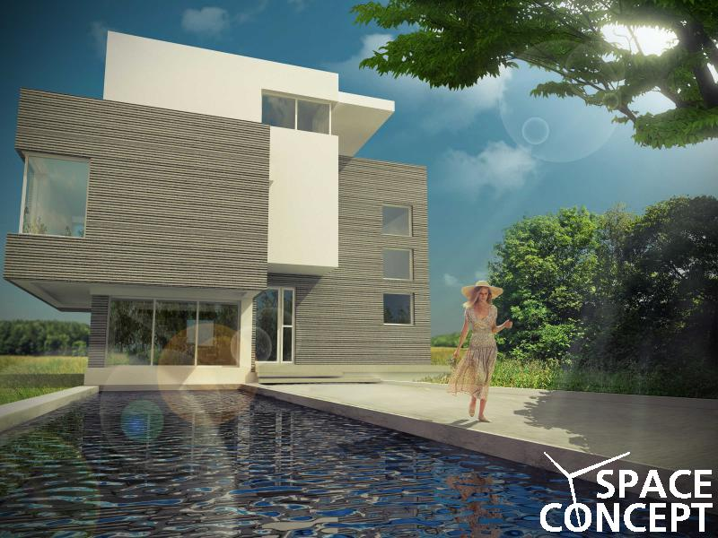 Proiect arhitectura moderna casa demisol parter 1 etaj for Imagini case moderne